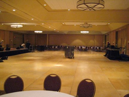 Setting up the ballroom