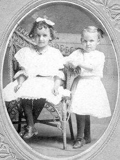Ethel and Irene Hasty abt 1906