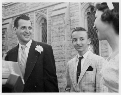 Jesse K Hagemeyer Jr at JW and ML Hagemeyer wedding 1957