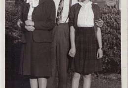 Catherine, Burruss, and Mary Louise McKee mid 1940s