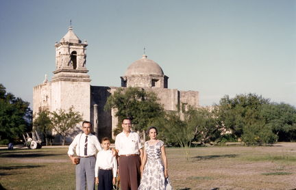 Jack, Jesse Jr, Jesse Sr and Juanita in Mexico 1955