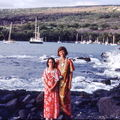 1977 Hawaii Susan and ML by bay
