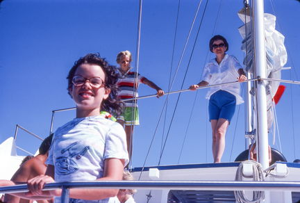 1977 Hawaii Susan and ML on a boat
