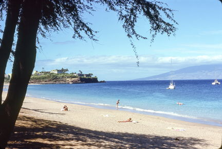 1977 Hawaii Maui beach scene