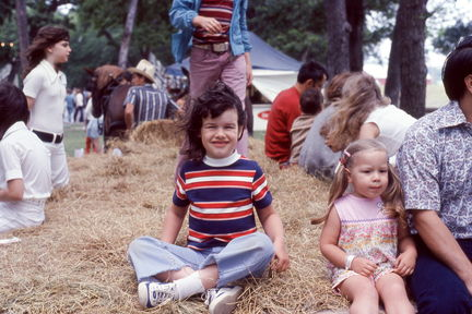 1973 Mayfest - Susan on a hayride