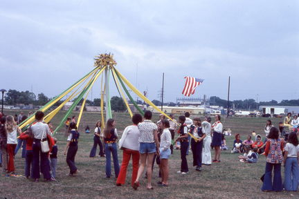 1973 Mayfest - May pole