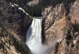 1975 Yellowstone falls vertical