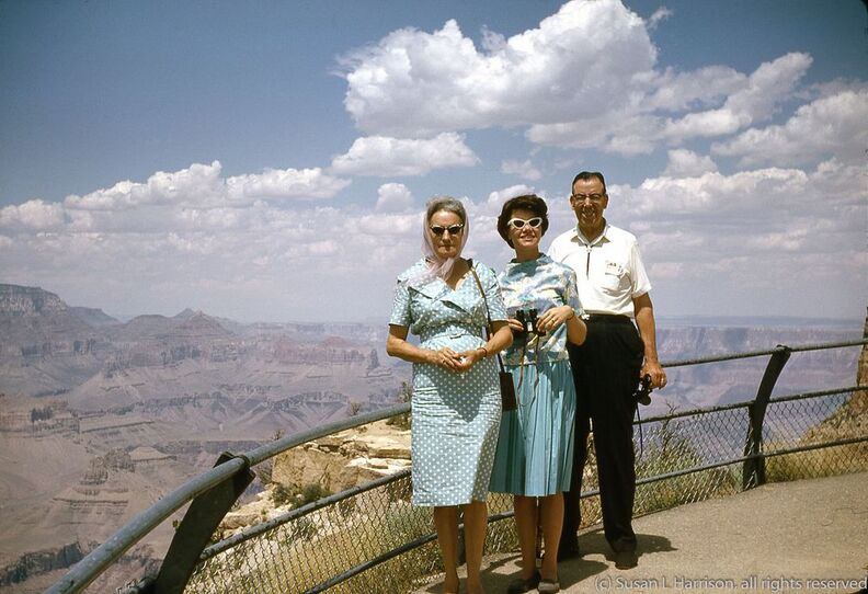 1965 Grand Canyon 004 Juanita, Mary Louise, Jesse Sr.jpg