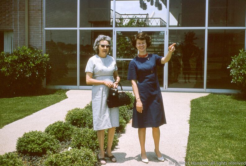 1965 Juanita and Mary Louise at Ridgmar Plaza apt in Ft Worth.jpg