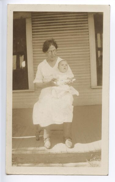 Jessie Byrd Hagemeyer (Bum Bum) and baby Jesse Kaiper probably
