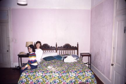 Royal Rd bedroom downstairs 1978 - Susan and ML