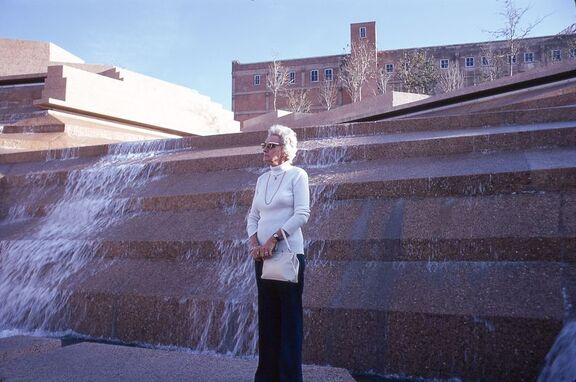 1974 Dec Ft Worth Water Gardens, Juanita Hagemeyer