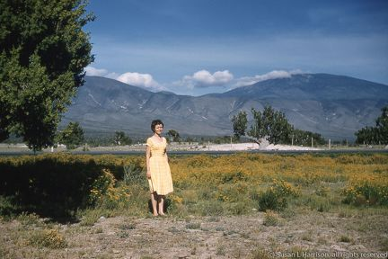 1961 Mexico trip - Mary Louise at Big Bend