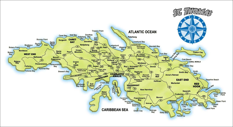 St. Thomas Map